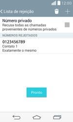 LG D390n F60 - Chamadas - Como bloquear chamadas de um número específico - Etapa 12