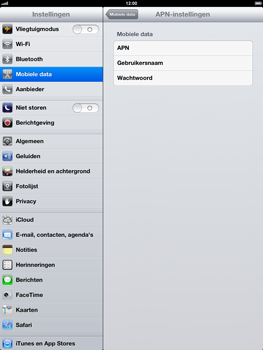 Apple iPad 4th generation - Internet - handmatig instellen - Stap 6