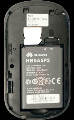 Huawei E587 - Premiers pas - Noter les codes Wi-Fi - Étape 4
