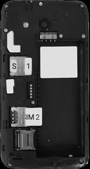 Alcatel U3 - Premiers pas - Insérer la carte SIM - Étape 5