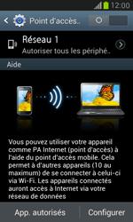 Samsung Galaxy S3 Mini - Internet et connexion - Partager votre connexion en Wi-Fi - Étape 10