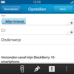 BlackBerry Q5 - E-mail - Hoe te versturen - Stap 9