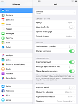 Apple iPad Mini 3 iOS 10 - E-mail - Configurer l