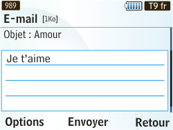 Samsung S3350 Chat 335 - E-mail - Envoi d