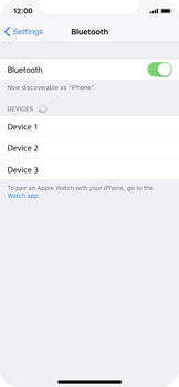 Apple iPhone X - Bluetooth - Pair with another device - Step 5
