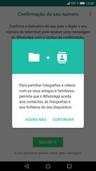 Huawei P9 Lite - Android Nougat - Aplicações - Como configurar o WhatsApp -  6
