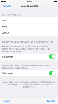 Apple Apple iPhone 6 Plus iOS 10 - Applications - Créer un compte - Étape 17