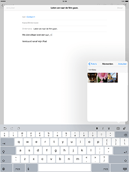 Apple iPad Pro 12.9 (1st gen) - iOS 10 - E-mail - Hoe te versturen - Stap 10