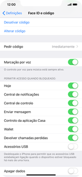 Apple iPhone XR - Segurança - Como ativar o código de bloqueio do ecrã -  8