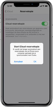 Apple iphone-xs-model-A1920 - Instellingen aanpassen - Back-up maken in je account - Stap 12
