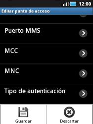 Samsung S5570 Galaxy Mini - Mensajería - Configurar el equipo para mensajes multimedia - Paso 12