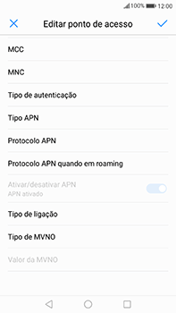 Huawei Mate 9 - Internet no telemóvel - Configurar ligação à internet -  12