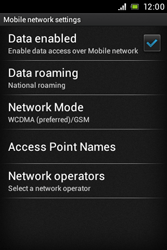 Sony ST21i Xperia Tipo - Internet - Enable or disable - Step 6