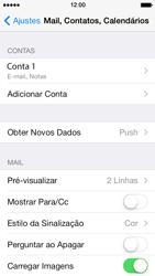 Apple iPhone iOS 7 - Email - Como configurar seu celular para receber e enviar e-mails - Etapa 28