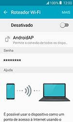 Samsung Galaxy J1 - Wi-Fi - Como usar seu aparelho como um roteador de rede wi-fi - Etapa 6