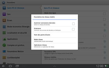 Samsung P7500 Galaxy Tab 10-1 - Internet - Activer ou désactiver - Étape 5