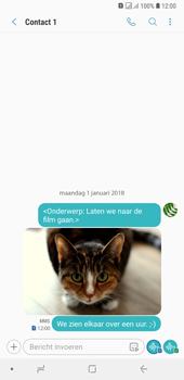 Samsung Galaxy A7 (2018) - MMS - hoe te versturen - Stap 21