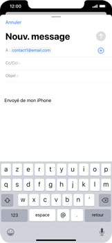 Apple iPhone XR - iOS 13 - E-mail - envoyer un e-mail - Étape 5