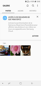 Samsung Galaxy A6 - Photos, vidéos, musique - Envoyer une photo via Bluetooth - Étape 4