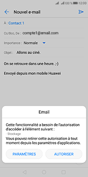 Huawei Mate 10 Pro - E-mails - Envoyer un e-mail - Étape 11