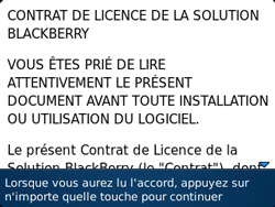 BlackBerry 9320 - Premiers pas - Créer un compte - Étape 5