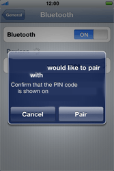 Apple iPhone 4 - Bluetooth - Pair with another device - Step 7