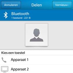 BlackBerry Q5 - Contactgegevens overzetten - delen via Bluetooth - Stap 7