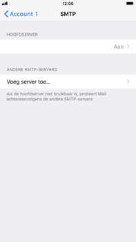 Apple iPhone 8 Plus - iOS 12 - E-mail - Account instellen (POP3 zonder SMTP-verificatie) - Stap 20