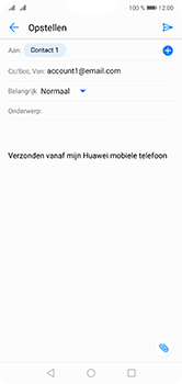 Huawei P20 Lite Dual-SIM (Model ANE-LX1) - E-mail - Bericht met attachment versturen - Stap 7