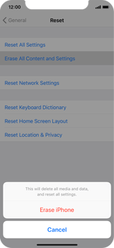 Apple iPhone X - Device - Reset to factory settings - Step 7