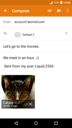Acer Liquid Z530 - E-mail - Sending emails - Step 15
