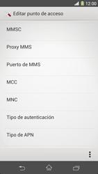 Sony Xperia Z1 - Mensajería - Configurar el equipo para mensajes multimedia - Paso 12