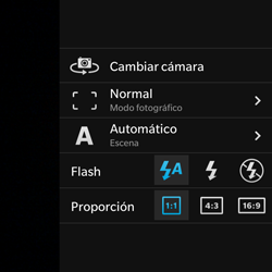BlackBerry Q5 - Funciones básicas - Uso de la camára - Paso 7