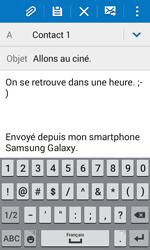 Samsung J100H Galaxy J1 - E-mail - envoyer un e-mail - Étape 9