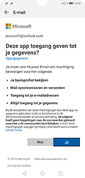 Huawei Mate 20 - E-mail - e-mail instellen (outlook) - Stap 7