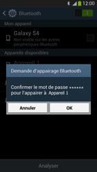 Samsung Galaxy S4 - Internet et connexion - Connexion avec un équipement multimédia via Bluetooth - Étape 8
