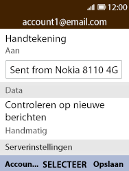Nokia 8110-ta-1071 - E-mail - Instellingen KPNMail controleren - Stap 8