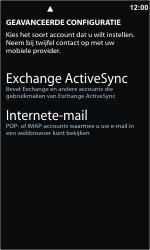 Nokia Lumia 800 - E-mail - e-mail instellen: IMAP (aanbevolen) - Stap 8