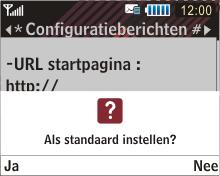 Samsung B3210 Corby TXT - MMS - automatisch instellen - Stap 5