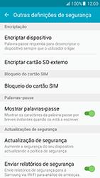 Samsung Galaxy A5 (2016) (A510F) - Segurança - Como ativar o código PIN do cartão de telemóvel -  6