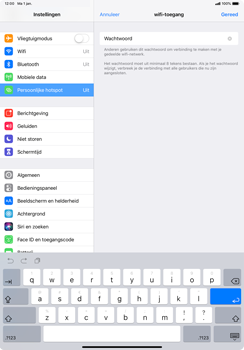 Apple ipad-pro-11-inch-2018-model-a1934 - WiFi - Mobiele hotspot instellen - Stap 5