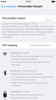Apple iphone 6 plus met ios 10 model a1524 - WiFi - Mobiele hotspot instellen - Stap 4