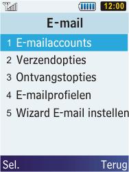 Samsung C3350 Xcover 2 - E-mail - e-mail instellen: POP3 - Stap 8