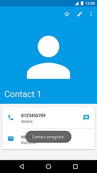 Motorola Moto E4 Plus - Contact, Appels, SMS/MMS - Ajouter un contact - Étape 15