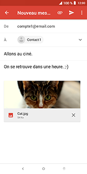 Alcatel 3L - E-mails - Envoyer un e-mail - Étape 15