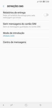 Samsung Galaxy Note9 - SMS - Como configurar o centro de mensagens -  10