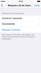 Apple iPhone SE iOS 10 - Chamadas - Como bloquear chamadas de um número -  7