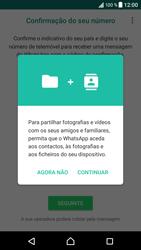 Sony Xperia XZ - Android Nougat - Aplicações - Como configurar o WhatsApp -  6