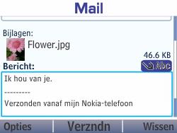 Nokia Asha 210 - E-mail - Hoe te versturen - Stap 18