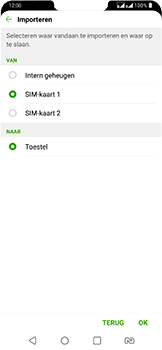 LG g7-fit-dual-sim-lm-q850emw - Contacten en data - Contacten kopiëren van SIM naar toestel - Stap 9